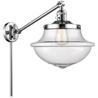 Innovations Lighting 237-PC-G544 Large Oxford 20 inch 60 watt Polished Chrome Swing Arm Wall Light Franklin Restoration