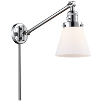 Innovations Lighting 237-PC-G61 Small Cone 21 inch 60.00 watt Polished Chrome Swing Arm Wall Light Franklin Restoration