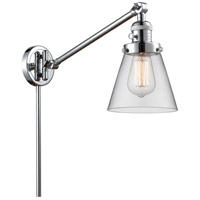 Innovations Lighting 237-PC-G62 Small Cone 21 inch 60.00 watt Polished Chrome Swing Arm Wall Light Franklin Restoration