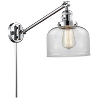Innovations Lighting 237-PC-G72 Large Bell 21 inch 60 watt Polished Chrome Swing Arm Wall Light Franklin Restoration