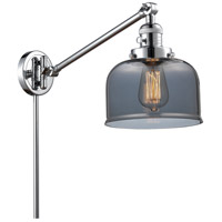 Innovations Lighting 237-PC-G73-LED Large Bell 21 inch 3.5 watt Polished Chrome Swing Arm Wall Light Franklin Restoration