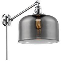 Innovations Lighting 237-PC-G73-L X-Large Bell 12 inch 60 watt Polished Chrome Swing Arm Wall Light Franklin Restoration