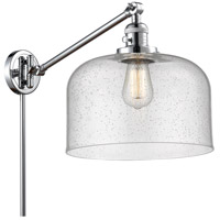 Innovations Lighting 237-PC-G74-L X-Large Bell 12 inch 60 watt Polished Chrome Swing Arm Wall Light Franklin Restoration