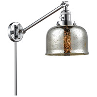Innovations Lighting 237-PC-G78 Large Bell 30 inch 60 watt Polished Chrome Swing Arm Wall Light Franklin Restoration