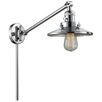 Innovations Lighting 237-PC-M7-PC Railroad 21 inch 60 watt Polished Chrome Swing Arm Wall Light Franklin Restoration