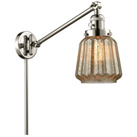 Innovations Lighting 237-PN-G146-LED Chatham 35 inch 3.5 watt Polished Nickel Swing Arm Wall Light Franklin Restoration
