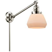 Innovations Lighting 237-PN-G171 Fulton 35 inch 60.00 watt Polished Nickel Swing Arm Wall Light Franklin Restoration