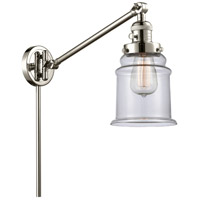 Innovations Lighting 237-PN-G182 Canton 35 inch 60.00 watt Polished Nickel Swing Arm Wall Light Franklin Restoration