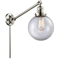 Innovations Lighting 237-PN-G202-8 Large Beacon 21 inch 60.00 watt Polished Nickel Swing Arm Wall Light Franklin Restoration