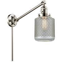 Innovations Lighting 237-PN-G262 Stanton 30 inch 60 watt Polished Nickel Swing Arm Wall Light Franklin Restoration