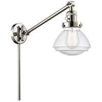 Innovations Lighting 237-PN-G324 Olean 18 inch 60.00 watt Polished Nickel Swing Arm Wall Light Franklin Restoration