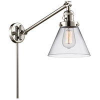 Innovations Lighting 237-PN-G42-LED Large Cone 30 inch 3.5 watt Polished Nickel Swing Arm Wall Light Franklin Restoration