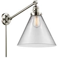 Innovations Lighting 237-PN-G42-L X-Large Cone 16 inch 60 watt Polished Nickel Swing Arm Wall Light Franklin Restoration