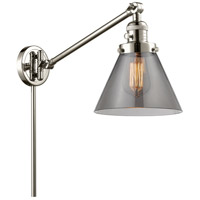 Innovations Lighting 237-PN-G43 Large Cone 30 inch 60 watt Polished Nickel Swing Arm Wall Light Franklin Restoration