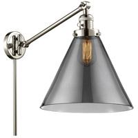 Innovations Lighting 237-PN-G43-L X-Large Cone 16 inch 60 watt Polished Nickel Swing Arm Wall Light Franklin Restoration