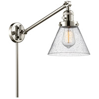 Innovations Lighting 237-PN-G44-LED Large Cone 30 inch 3.5 watt Polished Nickel Swing Arm Wall Light Franklin Restoration