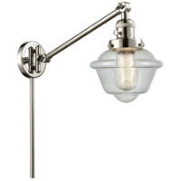 Innovations Lighting 237-PN-G534 Small Oxford 30 inch 60.00 watt Polished Nickel Swing Arm Wall Light Franklin Restoration