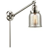 Innovations Lighting 237-PN-G58 Small Bell 30 inch 60 watt Polished Nickel Swing Arm Wall Light Franklin Restoration