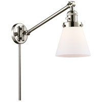 Innovations Lighting 237-PN-G61 Small Cone 21 inch 60 watt Polished Nickel Swing Arm Wall Light Franklin Restoration
