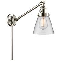 Innovations Lighting 237-PN-G62-LED Small Cone 21 inch 3.5 watt Polished Nickel Swing Arm Wall Light Franklin Restoration