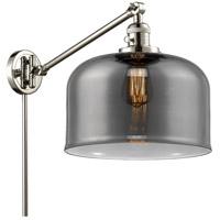 Innovations Lighting 237-PN-G73-L X-Large Bell 12 inch 60 watt Polished Nickel Swing Arm Wall Light Franklin Restoration