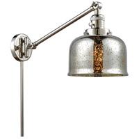 Innovations Lighting 237-PN-G78 Large Bell 30 inch 60 watt Polished Nickel Swing Arm Wall Light Franklin Restoration