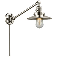 Innovations Lighting 237-PN-M1-PN Railroad 21 inch 60 watt Polished Nickel Swing Arm Wall Light, Franklin Restoration photo thumbnail