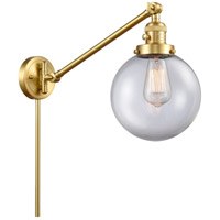 Innovations Lighting 237-SG-G202-8 Large Beacon 21 inch 60.00 watt Satin Gold Swing Arm Wall Light Franklin Restoration
