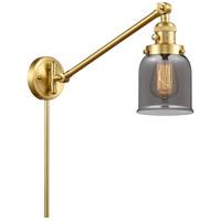 Innovations Lighting 237-SG-G53 Small Bell 21 inch 60.00 watt Satin Gold Swing Arm Wall Light Franklin Restoration