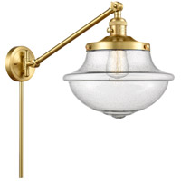 Innovations Lighting 237-SG-G544 Large Oxford 20 inch 60.00 watt Satin Gold Swing Arm Wall Light, Franklin Restoration