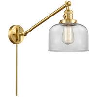 Innovations Lighting 237-SG-G72 Large Bell 21 inch 60.00 watt Satin Gold Swing Arm Wall Light Franklin Restoration