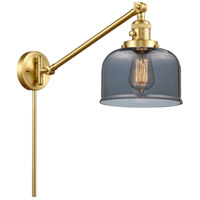Innovations Lighting 237-SG-G73 Large Bell 21 inch 60.00 watt Satin Gold Swing Arm Wall Light, Franklin Restoration