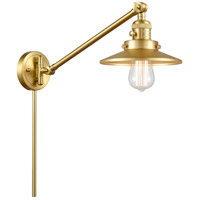 Innovations Lighting 237-SG-M4-SG Railroad 21 inch 60.00 watt Satin Gold Swing Arm Wall Light, Franklin Restoration