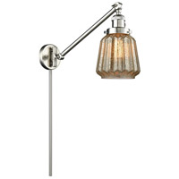 Chatham 35 inch 100 watt Brushed Satin Nickel Swing Arm Sconce Wall Light