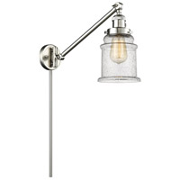 Canton 35 inch 100 watt Brushed Satin Nickel Swing Arm Sconce Wall Light