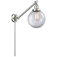 Innovations Lighting 237-SN-G202-8 Large Beacon 21 inch 60.00 watt Satin Nickel Swing Arm Wall Light, Franklin Restoration