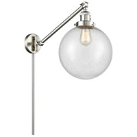 Innovations Lighting 237-SN-G204-10 X-Large Beacon 18 inch 60.00 watt Satin Nickel Swing Arm Wall Light, Franklin Restoration