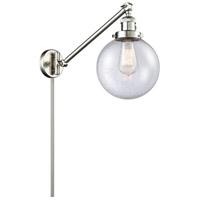 Innovations Lighting 237-SN-G204-8 Large Beacon 21 inch 60 watt Brushed Satin Nickel Swing Arm Wall Light Franklin Restoration