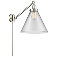 Innovations Lighting 237-SN-G42-L X-Large Cone 16 inch 60 watt Brushed Satin Nickel Swing Arm Wall Light Franklin Restoration