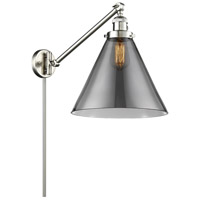 Innovations Lighting 237-SN-G43-L-LED X-Large Cone 16 inch 3.5 watt Brushed Satin Nickel Swing Arm Wall Light Franklin Restoration