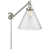 Innovations Lighting 237-SN-G44-L X-Large Cone 16 inch 60 watt Brushed Satin Nickel Swing Arm Wall Light Franklin Restoration
