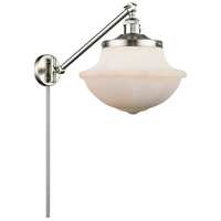 Innovations Lighting 237-SN-G541 Large Oxford 20 inch 60.00 watt Satin Nickel Swing Arm Wall Light, Franklin Restoration
