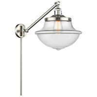 Innovations Lighting 237-SN-G542 Large Oxford 20 inch 60 watt Brushed Satin Nickel Swing Arm Wall Light Franklin Restoration