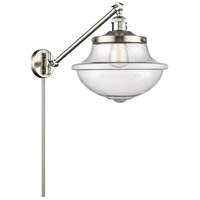 Innovations Lighting 237-SN-G544 Large Oxford 20 inch 60 watt Brushed Satin Nickel Swing Arm Wall Light Franklin Restoration