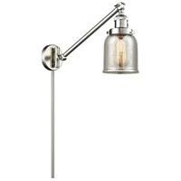 Innovations Lighting 237-SN-G58 Small Bell 30 inch 60.00 watt Satin Nickel Swing Arm Wall Light, Franklin Restoration