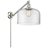 Innovations Lighting 237-SN-G72-L X-Large Bell 12 inch 60 watt Brushed Satin Nickel Swing Arm Wall Light Franklin Restoration