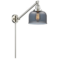 Large Bell 1 Light 8 inch Satin Brushed Nickel Wall Sconce Wall Light