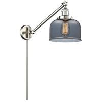 Innovations Lighting 237-SN-G73 Signature 21 inch 100 watt Brushed Satin Nickel Swing Arm Sconce Wall Light Large Bell
