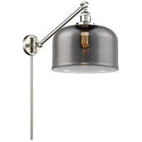 Innovations Lighting 237-SN-G73-L X-Large Bell 12 inch 60 watt Brushed Satin Nickel Swing Arm Wall Light Franklin Restoration