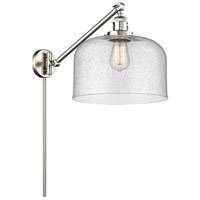Innovations Lighting 237-SN-G74-L X-Large Bell 12 inch 60 watt Brushed Satin Nickel Swing Arm Wall Light Franklin Restoration